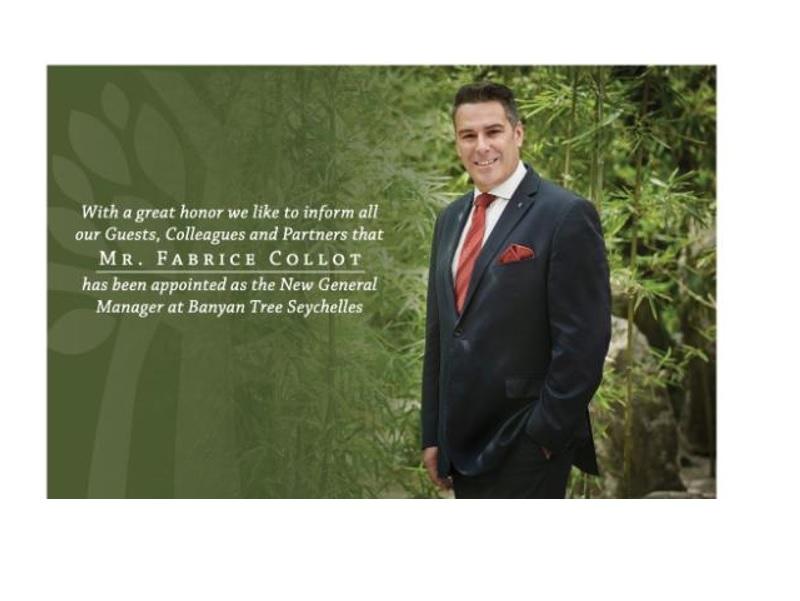 Fabrice Collot nouveau directeur général au Banyan Tree Seychelles