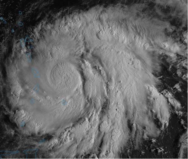 L'ouragan Maria devrait passer à 150 km au large de Saint-Martin - Crédit Photo : compte Twitter @ouragans