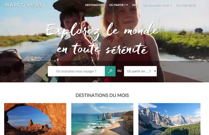 Le site de Marco Vasco qui va entrer dans le giron du groupe Le Figaro - DR