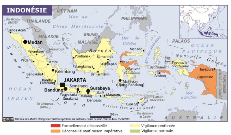 Le Mont Agung, en Indonésie est entré en activité, et menace d'éruption la région du Karangasem - DR : MAEDI