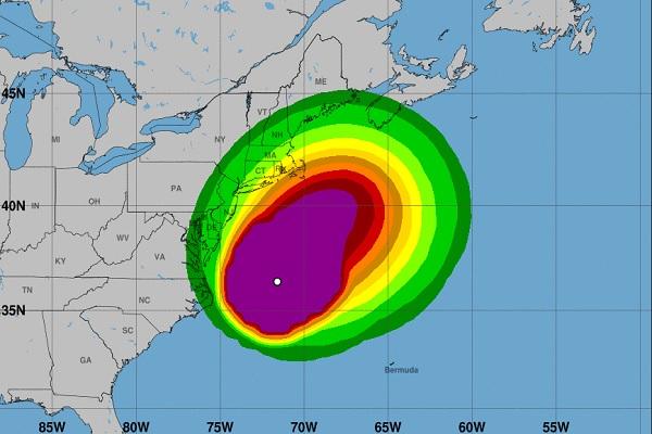 Des vents violents et de fortes précipitations sont attendus sur le nord de la côte est américaine - Crédit photo : www.nch.noaa.gov