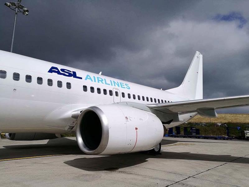 ASL Airlines, compagnie spécialiste du charter sur le moyen-courrier, ne note pas de baisse significative de la demande des TO © ASL Facebook