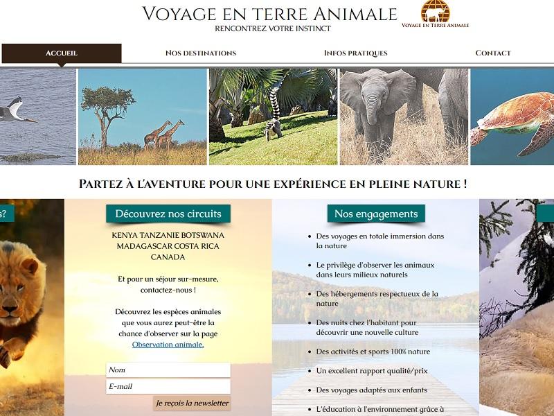 6 destinations sont actuellement disponibles sur Voyage en terre animale - Crédit photo : Voyage en terre animale