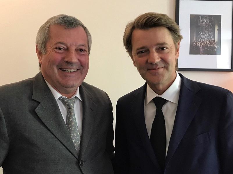 roland Eguy, président confédéral de l'UMIH et François Barouin, président de l'association des maires de France - DR UMIH