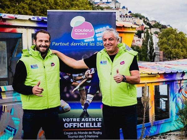 David Chevalier avec Frédéric Michalak, le nouveau visage de Couleur Groupe - Crédit photo : Couleur Groupe
