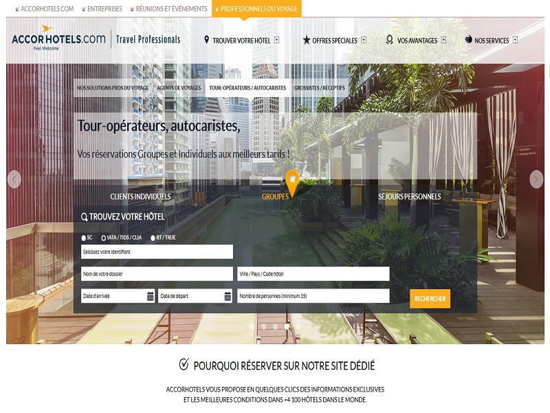 Plateforme TravelPros Crédit : AccorHotels