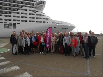 49 organisateurs de voyages ont pu visiter le temps d'une journée le MSC Preziosa - Crédit photo : Nationaltours