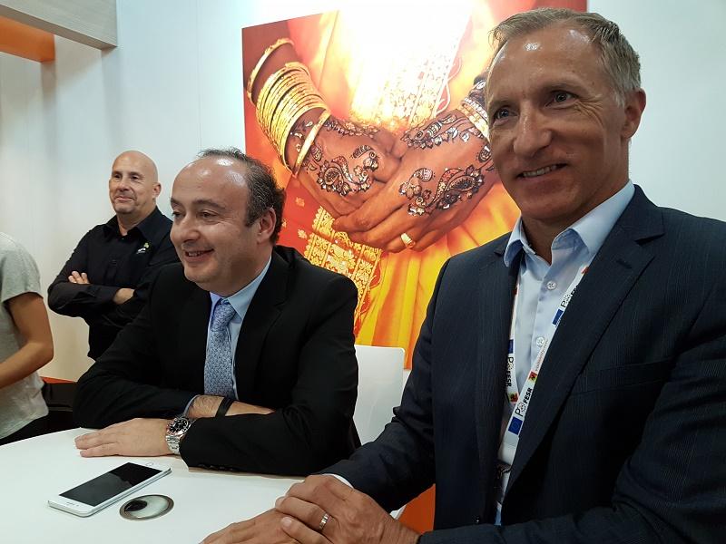 Laurent Abitbol et Jean-Noël Lefeuvre lors du point presse sur le stand Selectour à l'IFTM Top Resa - DR CE