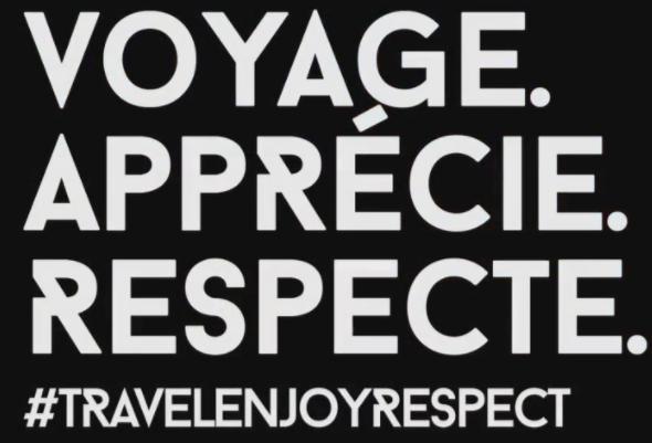 """Le concours de l'OMT s'inscrit dans la démarche """"Travel.Enjoy.Respect - DR : OMT"""