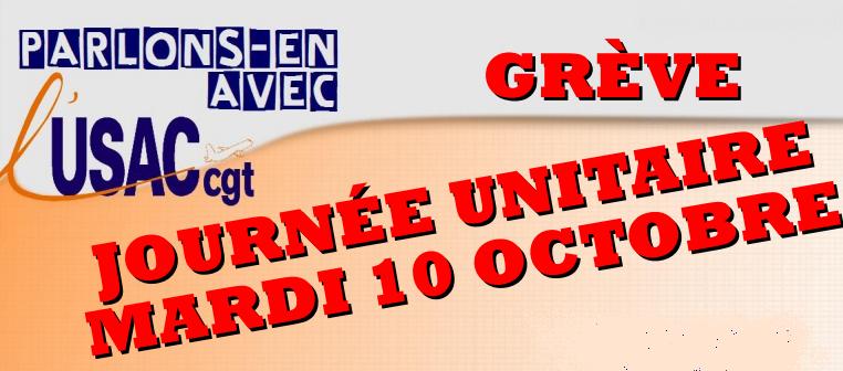 L'USAC-CGT appelle les contrôleurs aériens à la grève le 10 octobre 2017 - DR : USAC-CGT