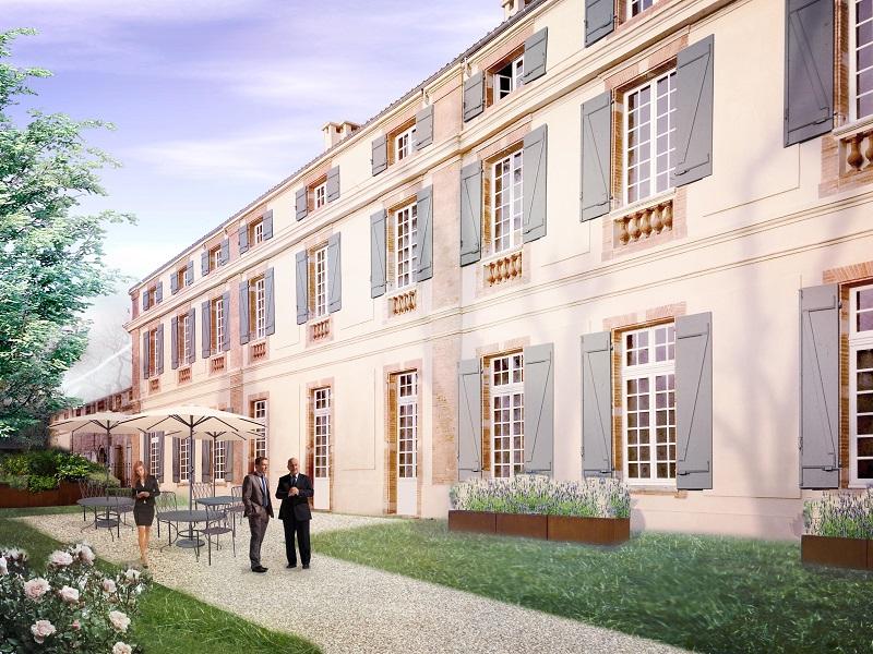 Fraîchement rénové, le Châteua de Dudras accueille les séminaires et les groupes. © Château de Drudas