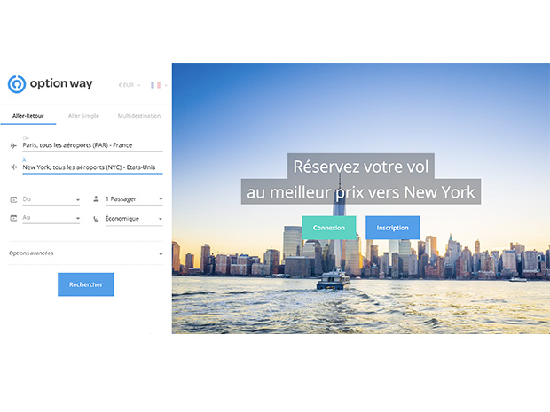 Interface d'OptionWay Crédit : OptionWay