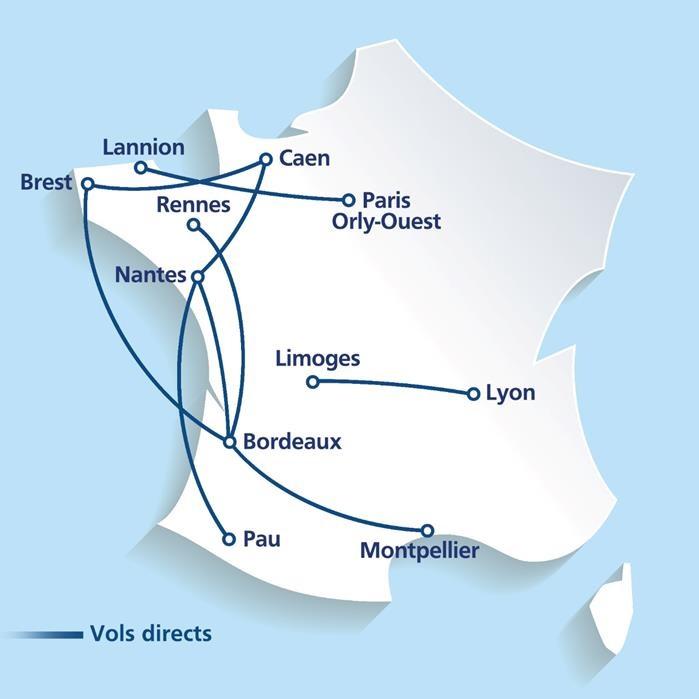 Le réseau de Chalair Aviation - DR