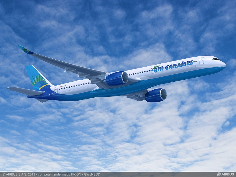 Air Caraïbes propose 3 liaisons quotidiennes régionales entre l'île de Saint-Martin et Pointe-à-Pitre - Crédit photo : Airbus