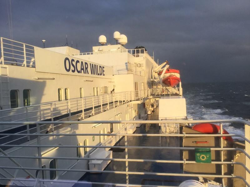 A bord de l'Oscar Wilde, c'est déjà l'Irlande - DR : J.-P. C.