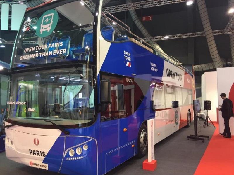 Open Tour Paris lance le premier bus touristique hop-on hop-off 100% électrique à Paris - DR RATP