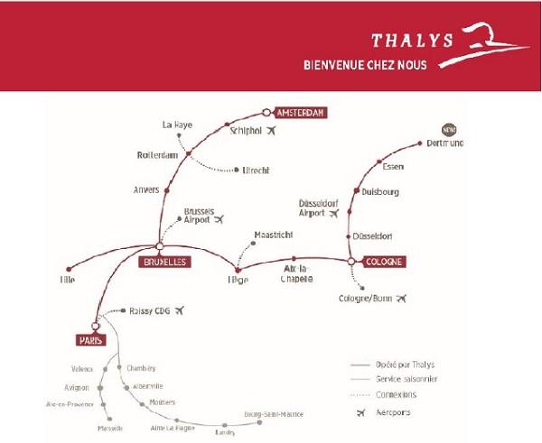 Thalys a baissé les émissions de CO2 par voyageur de - 37% - crédit photo : Thalys