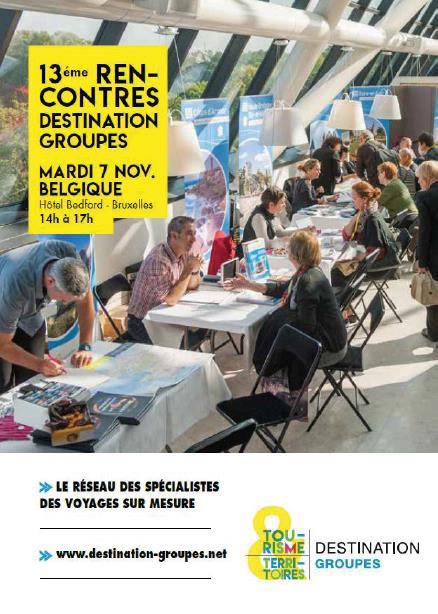 Destination Groupes en workshop à Bruxelles le 7 novembre 2017
