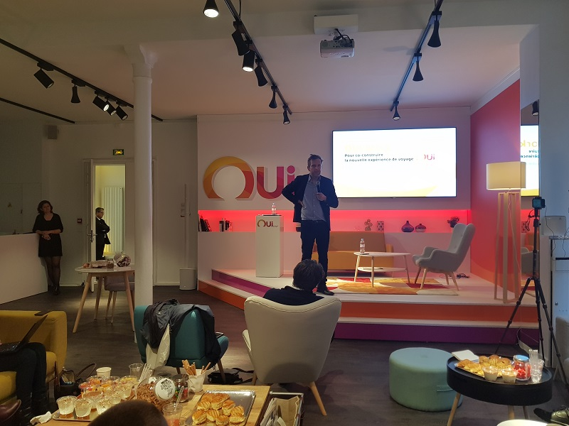 Benoit Bouffart présente la nouvelle stratégie de Oui.Sncf Crédit : i-tourisme