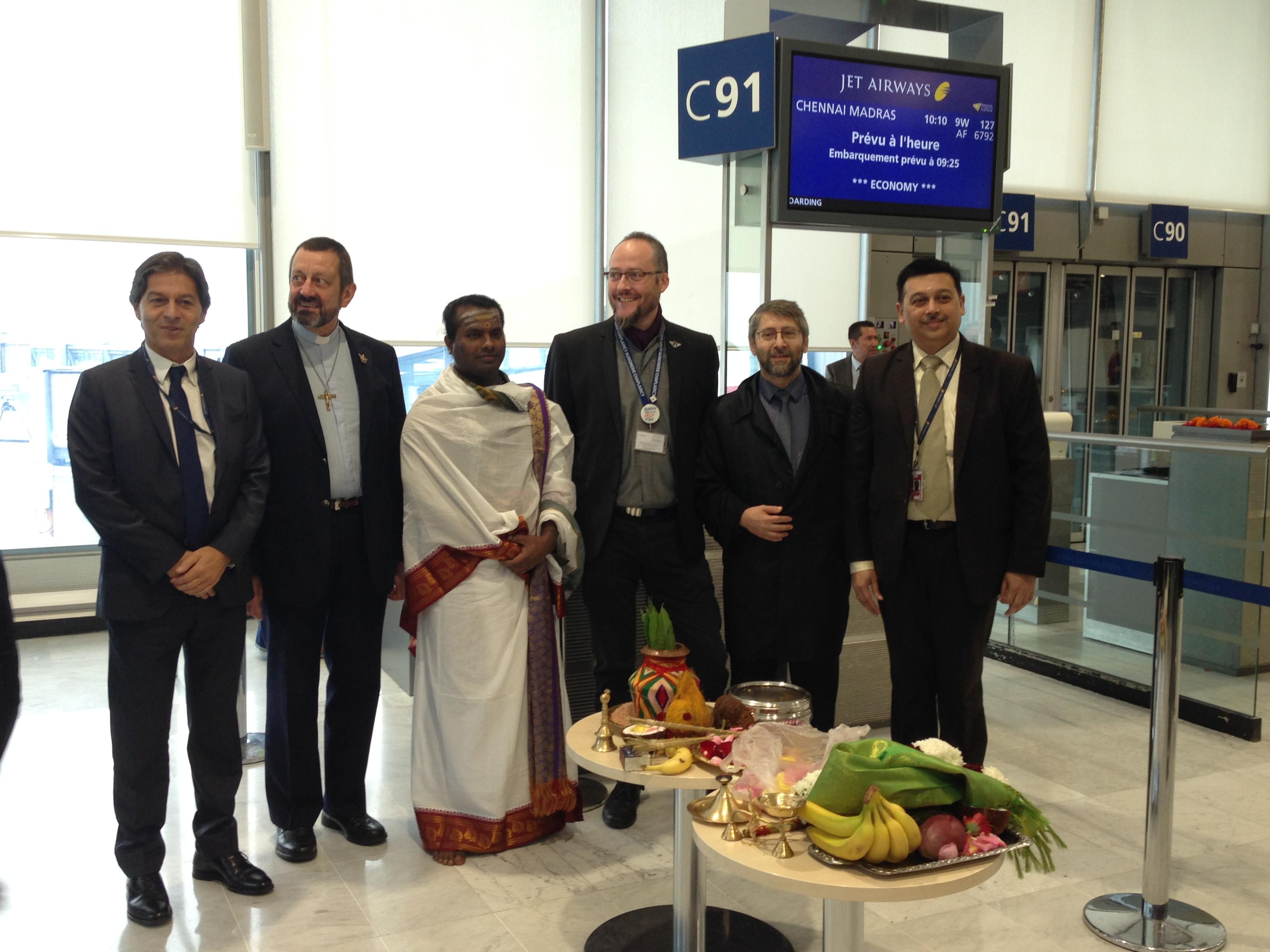 Jet Airways a lancé son premier vol non-stop au départ de Paris-CDG (terminal 2C) vers Chennai, opéré 5 jours par semaine (du jeudi au lundi) - DR : C.L.