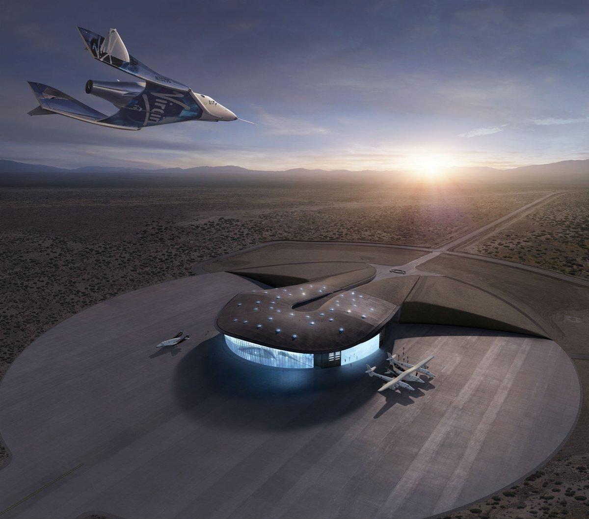 """Cet investissement va nous permettre de développer la prochaine génération de lancement de satellite et accélérer notre programme (...) de navigation spatiale supersonique"""", a souligné M. Branson, qui a ajouté que l'envoi de personnes dans l'espace par Virgin Galactic était seulement """"qu'une question de mois"""".  - Photo Virgin Galactic Twitter"""