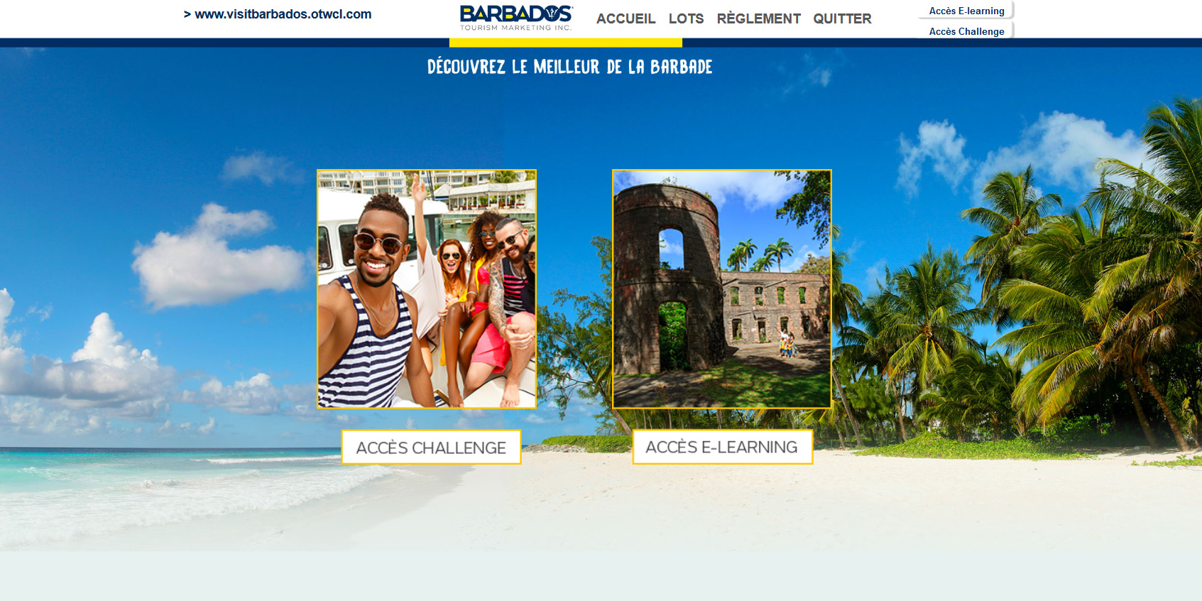 L'E-learning de l'Office de Tourisme de la Barbade - DR
