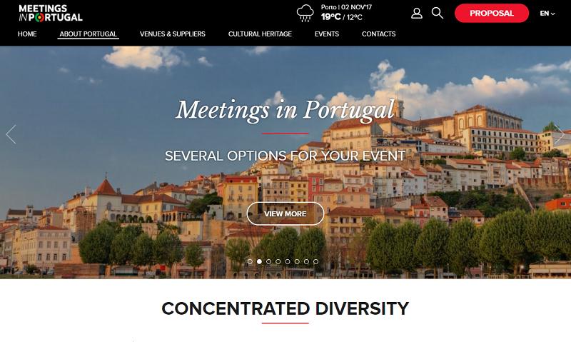 Le Portugal a lancé une plateforme dédiée au tourisme d'affaires - Capture écran