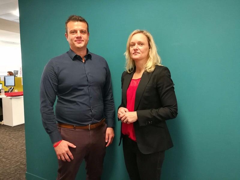 Johann Soarfel et Nathalie Walschaerts Crédit : DR