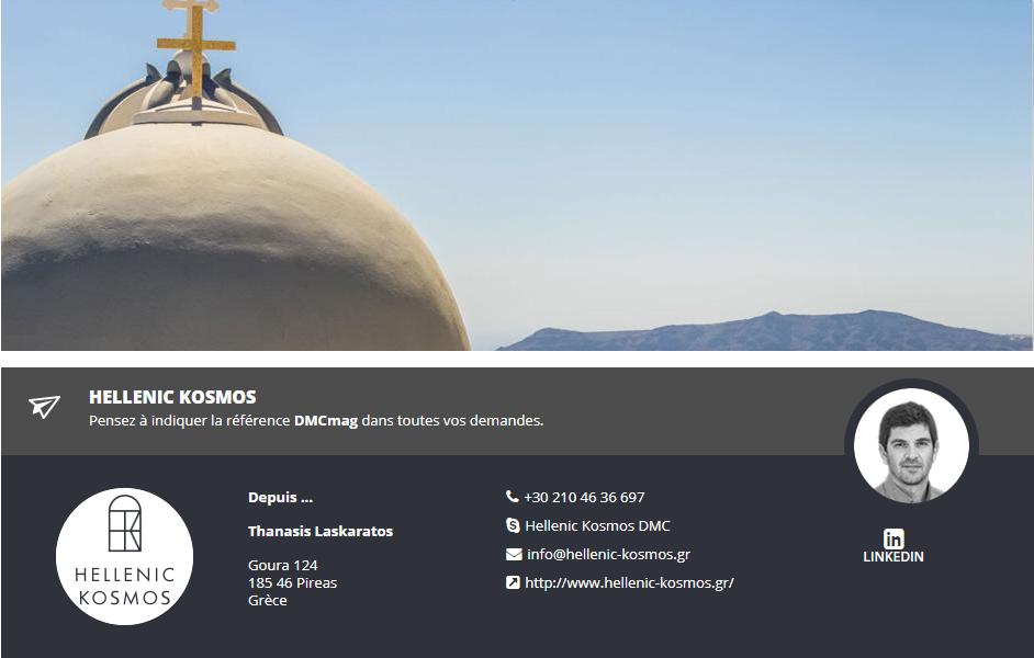 Hellenic Kosmos, réceptif Grèce - DR
