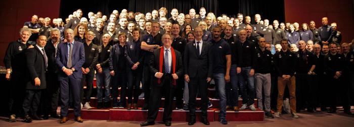 Les cadres et entraîneurs de l'Equipe de France Olympique au Club Med d'Opio en Provence - DR Club Med