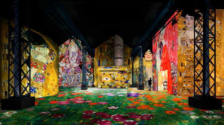 Simulation Klimt et Schiele. La Sécession à Vienne – Atelier des Lumières © D.R.