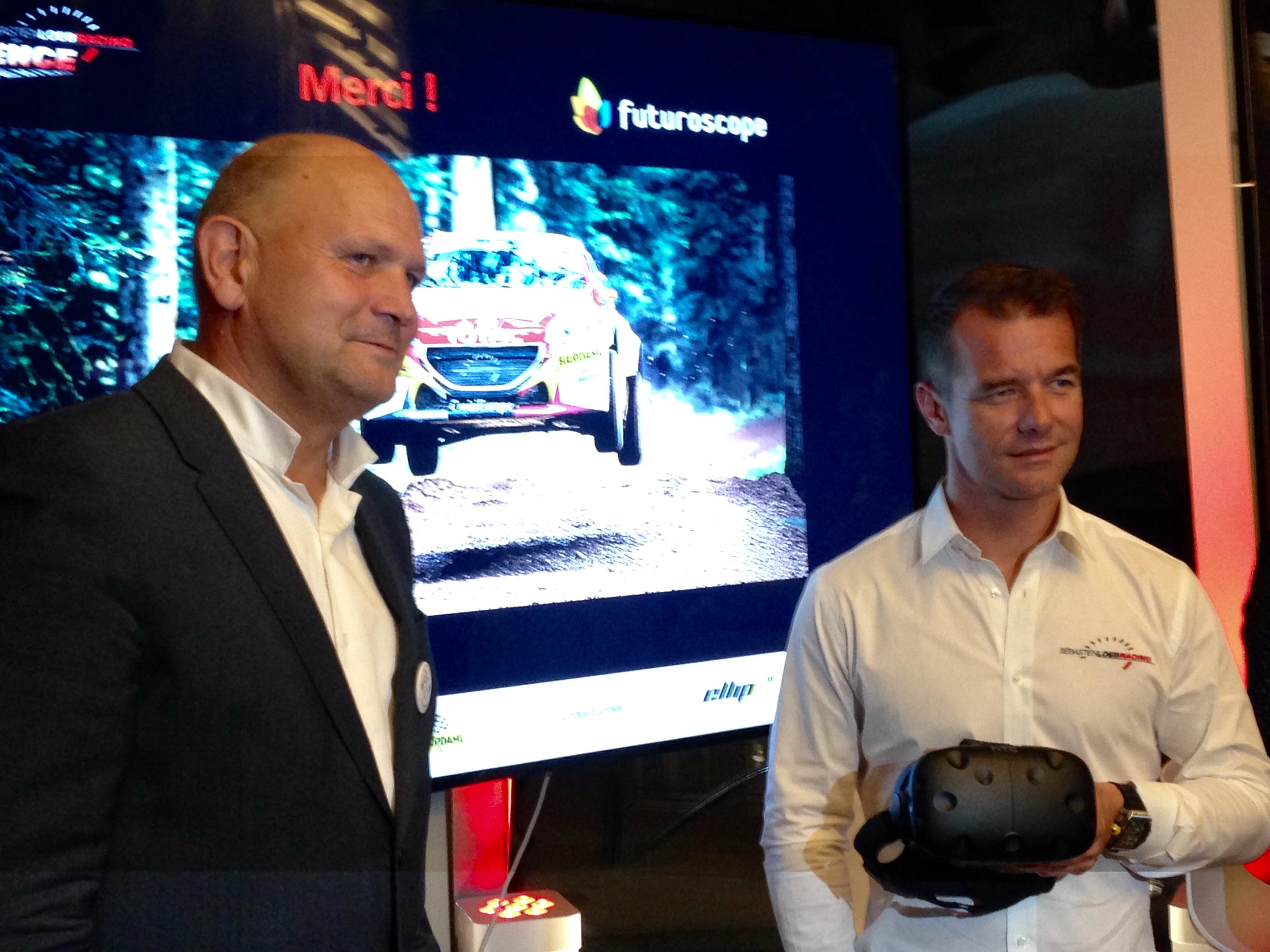 Dominique Hummel et Sébastien Loeb ont présenté l'attraction, mardi soir.