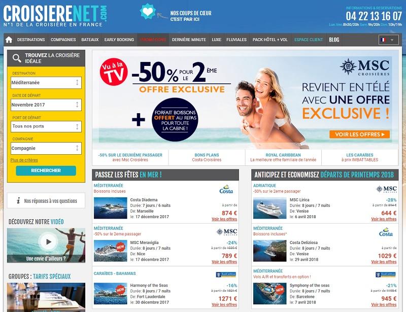 Paiement en 4 fois sans frais : ce service est proposé est proposé sur le site Croisierenet.com pour toute réservation d'un montant compris entre 100€ et 4000€ TTC - DR