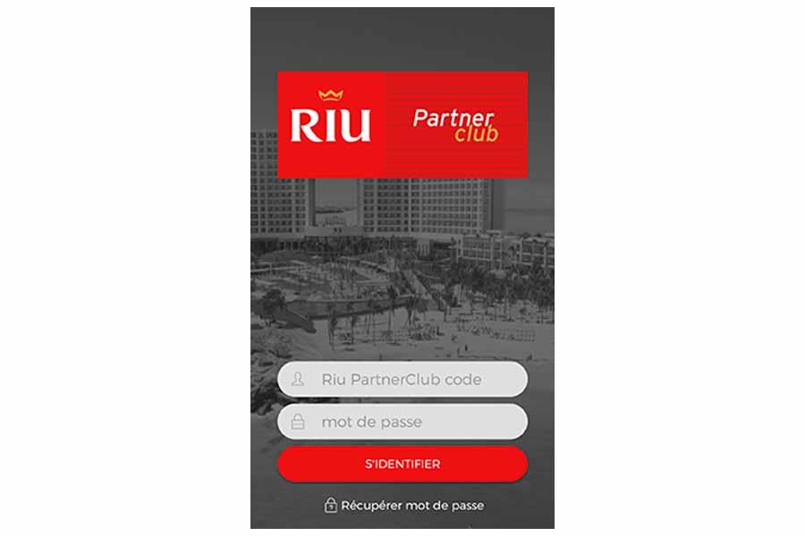 La nouvelle application dans le cadre du Riu PartnerClub - DR