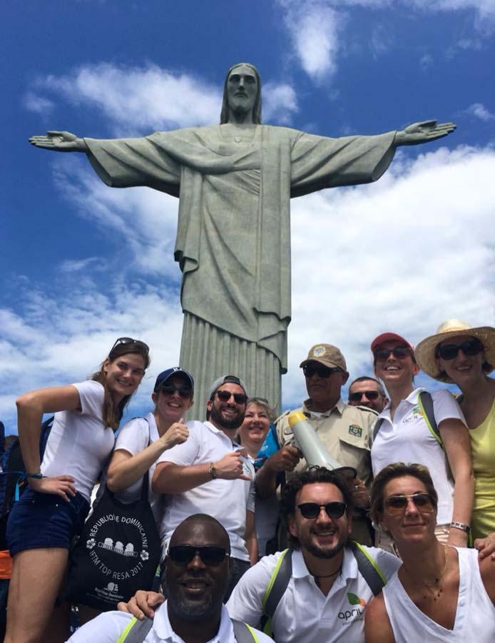 Les équipes du trophée au Corcovado © TourMaG