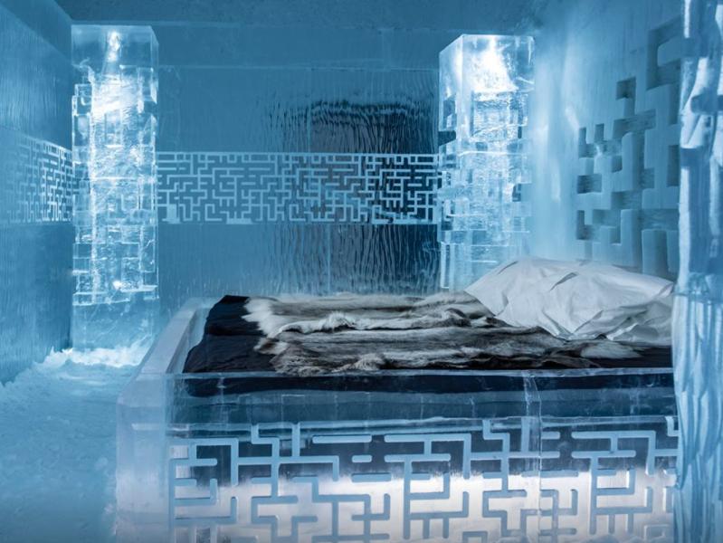 A Jukkasjärvi, il est possible de passer une nuit par -5°C © Ice Hôtel Facebook