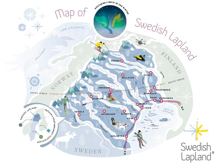 Face à la Finlande, la Laponie suédoise veut aussi séduire le marché français