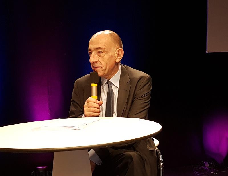 """Jean-Marc Janaillac Air France : """"nous ferons ce qu'on a dit le 1er avril 2018. Pour pouvoir appliquer NDC la mesure de rétorsion des GDS est d'augmenter fortement le coût pour les utiliser. Nous répercutons ce coût via la surcharge"""" - Photo CE"""