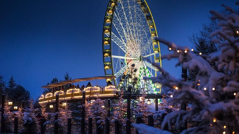 La grande roue sous la neige - Crédit photo : Europa Parks