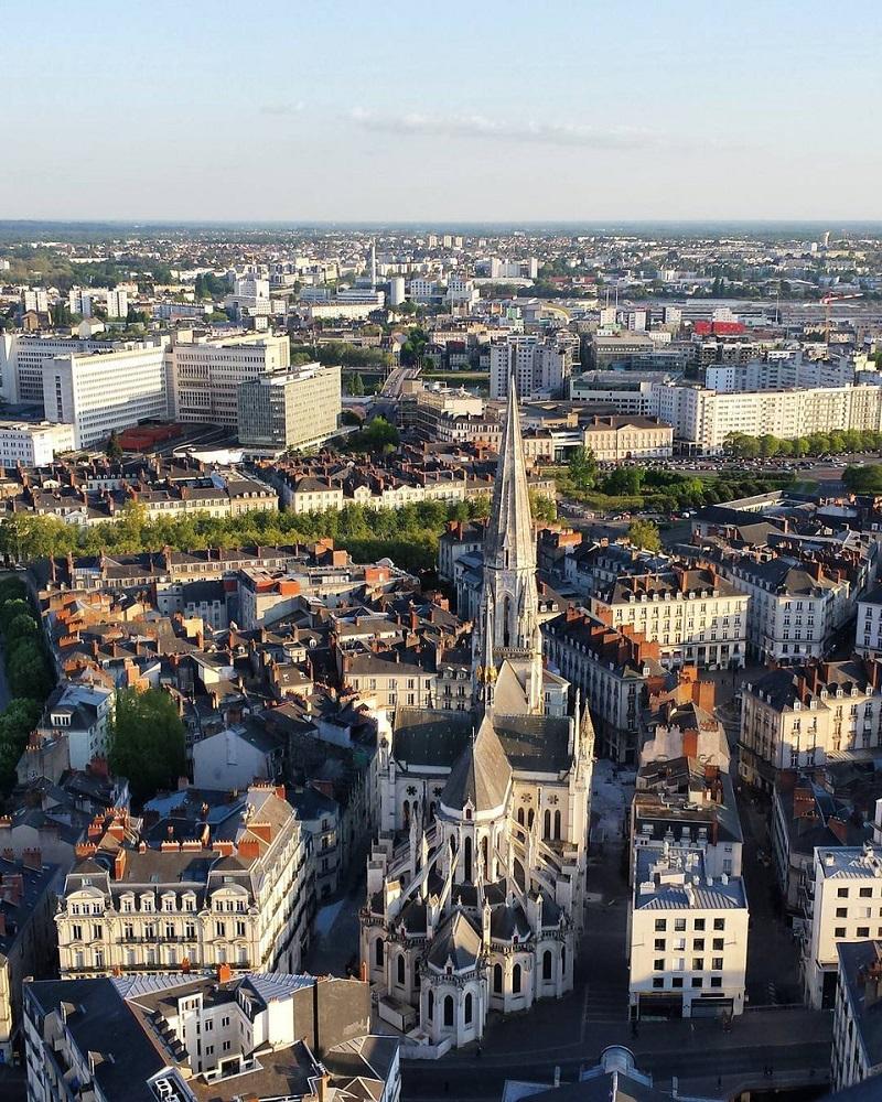 Vue de Nantes - Crédit photo : Compte Twitter @nantestourisme