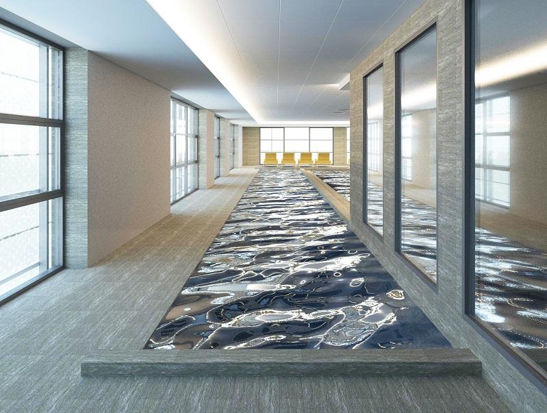 l'espace aquatique du nouveau spa proposera un couloir de nage - DR projection le Grand Spa Thermal
