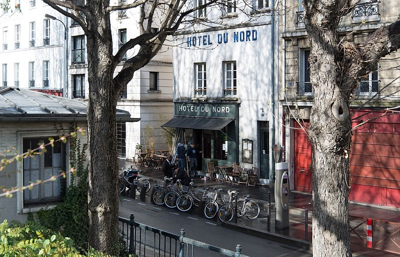 L'hôtel du Nord à Paris - photo Inocybe-Piero d'Houin, Creative commons