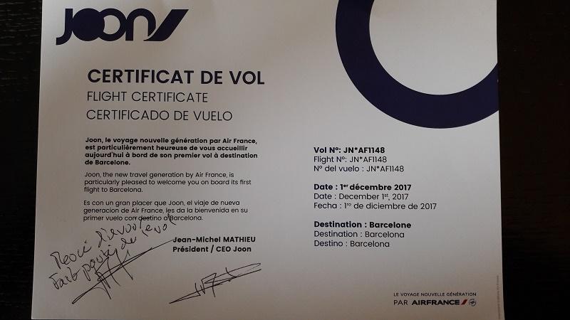 Le certificat de Vol - Photo CH