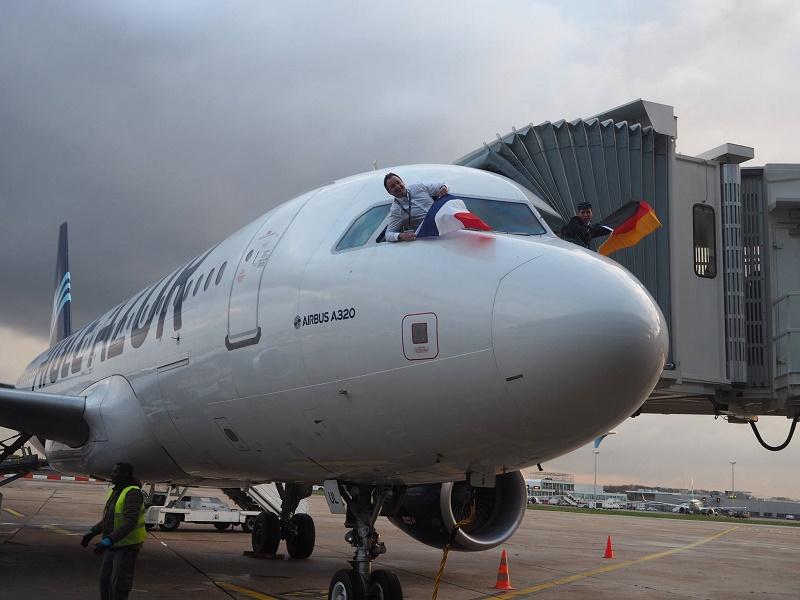 L'A320, sous le numéro de vol ZI601, a décollé de l'aéroport d'Orly vendredi 1er décembre 2017 vers Berlin - DR Aigle Azur