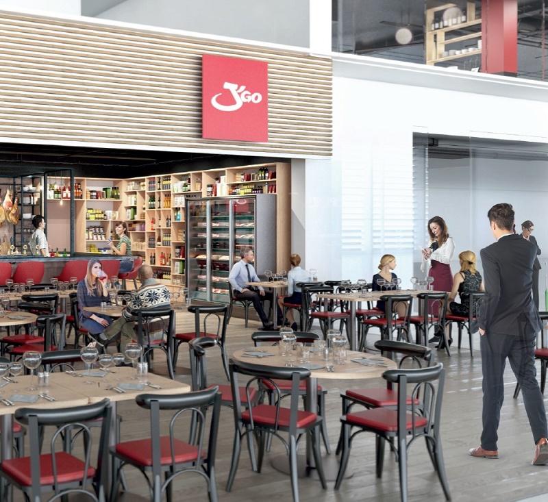 L'aéroport Toulouse Blagnac va adapter son offre commerciale en proposant aux passagers de grandes enseignes internationales telles que le salon de café Starbucks ou des marques qui font l'identité de la région à l'image du J'go, le restaurant bien connu des Toulousains - Photo ATB