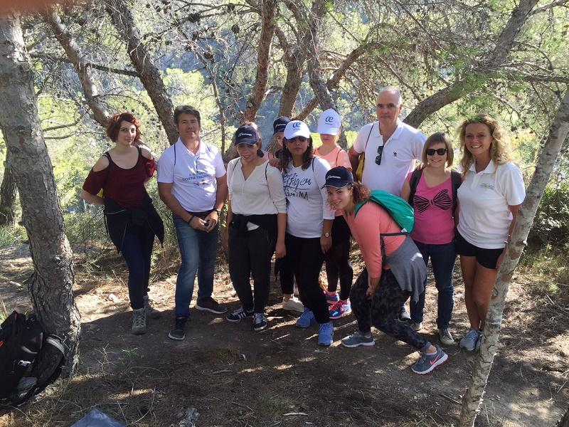 Le groupe d'agents de voyages après la randonnée dans la Sierra. DR JP C