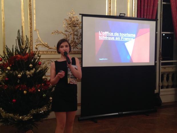 Marie Muchova, directrice de l'Office national de tourisme de la République Tchèque en France a présenté la brochure 2018 aux professionnels du tourisme. - CL