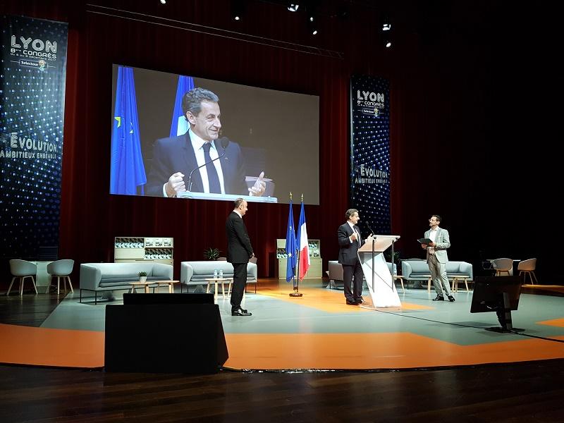 """Nicolas Sarkozy à propos du Brexit : """" C'est une vraie catastrophe. Le Royaume Uni appartient à l'Europe. En revanche, il est clair qu'il va nous falloir la changer, cette Europe"""" - Photo CE"""