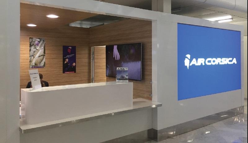 Le nouveau comptoir de ventes d'Air Corsica installé à Paris Orly - DR