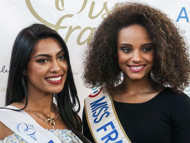 Miss Réunion 2017 et Miss France 2017 - Crédit photo : RP
